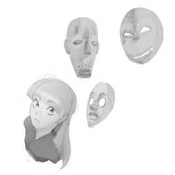 Mask sketches by HidekiHids