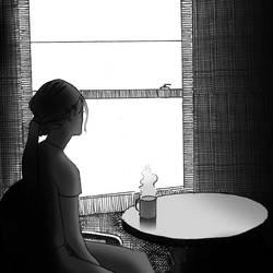 Inktober Day 2 - Tranquil. by HidekiHids