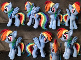 Rainbow Dash Plush .: SOLD :. by AlicornParty