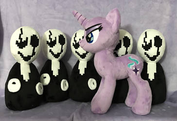 Plush WIPs - Starlight Glimmer and Gaster x5 by AlicornParty