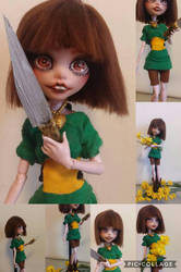 Chara (Doll Repaint) by GothamGirlDC