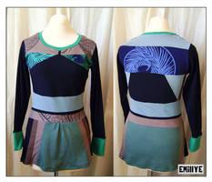 Haut vert noir brun by Emillye
