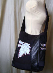 Sac Game of thrones - winter is coming, reycled by Emillye