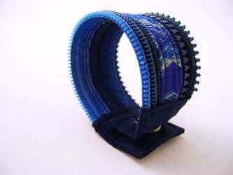 Bracelet zipper bleu turquise by Emillye