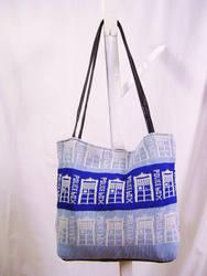 Sac motif tricot tardis, police box, dr who by Emillye