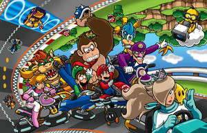 Mario Kart 8 Poster - Nintendo Force# 8 by Thormeister