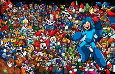 Mega Man Mega Poster by Thormeister