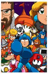 Mega Man 4 poster by Thormeister