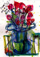 Flowers in Vase  Laurie PRoctor by LaurieLefebvre