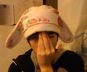 .:the ugly bunny hat:. by PhoebeRose