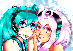 MikuXMAIKA by MissusPeach