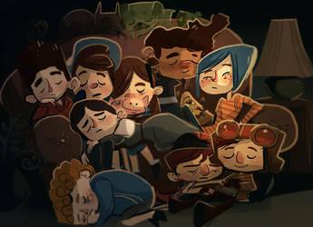 Mystery Kid Nap Pile by Zakeno