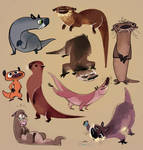 Otters by Zakeno