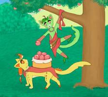 Apple Picking by KanaGo