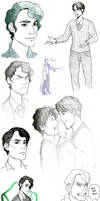 Tom Riddle sketchdump by ponnukakku
