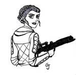 Inktober2018 #10 - Princess Leia by JOSGUI