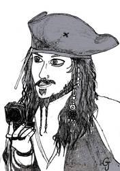 Inktober2018 #18 - Captain Jack Sparrow by JOSGUI