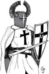 Inktober2018 #27 - Teutonic Knight by JOSGUI