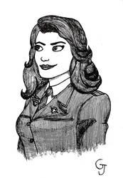 Inktober2018 #29 - Agent Carter by JOSGUI