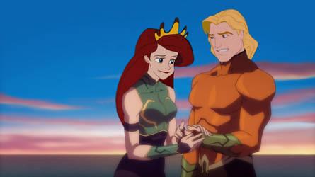 Aquaman and Mera by JOSGUI