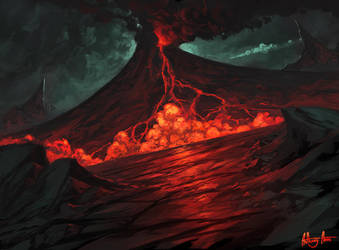 Volcano speedpaint by AnthonyAvon