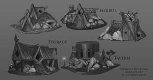 Dwarven Buildings by AnthonyAvon