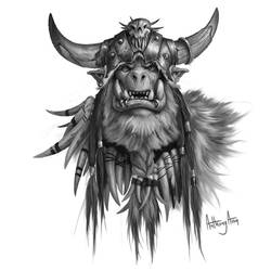 Ju'bran of the Frostwolfs by AnthonyAvon