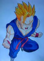 Gohan Super Saiyan by Daisuke-Dragneel