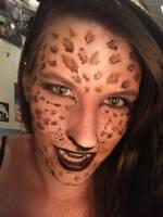 Halloween leopard makeup by jenna-daydreamer93