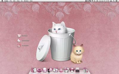 My Cute Kitty Pink Desktop by Shrantellatessa