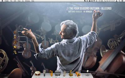 Orchestrated Desktop: FALLing Violins by Shrantellatessa