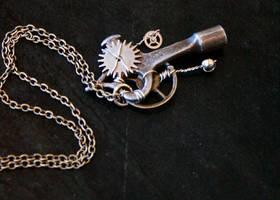 Steampunk Necklace1 by CobaltBlu
