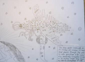 Alien probe by Stegron
