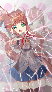 Monika Cracked Glass by suicunespurr