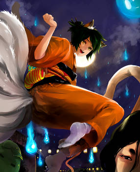 Contest Entry: Nine-Tailed Fox by UP-AME