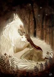 Sansa and Lady by haniutek