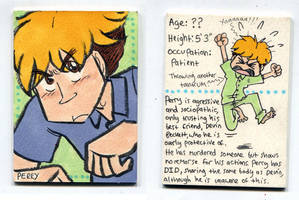Perry Character Card (available for swapsies!) by Naoru