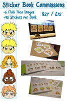 Sticker Book Commissions :3 (only from Jan-April) by Naoru
