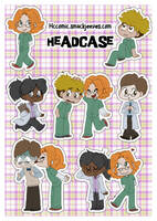 Headcase sticker sheet by Naoru