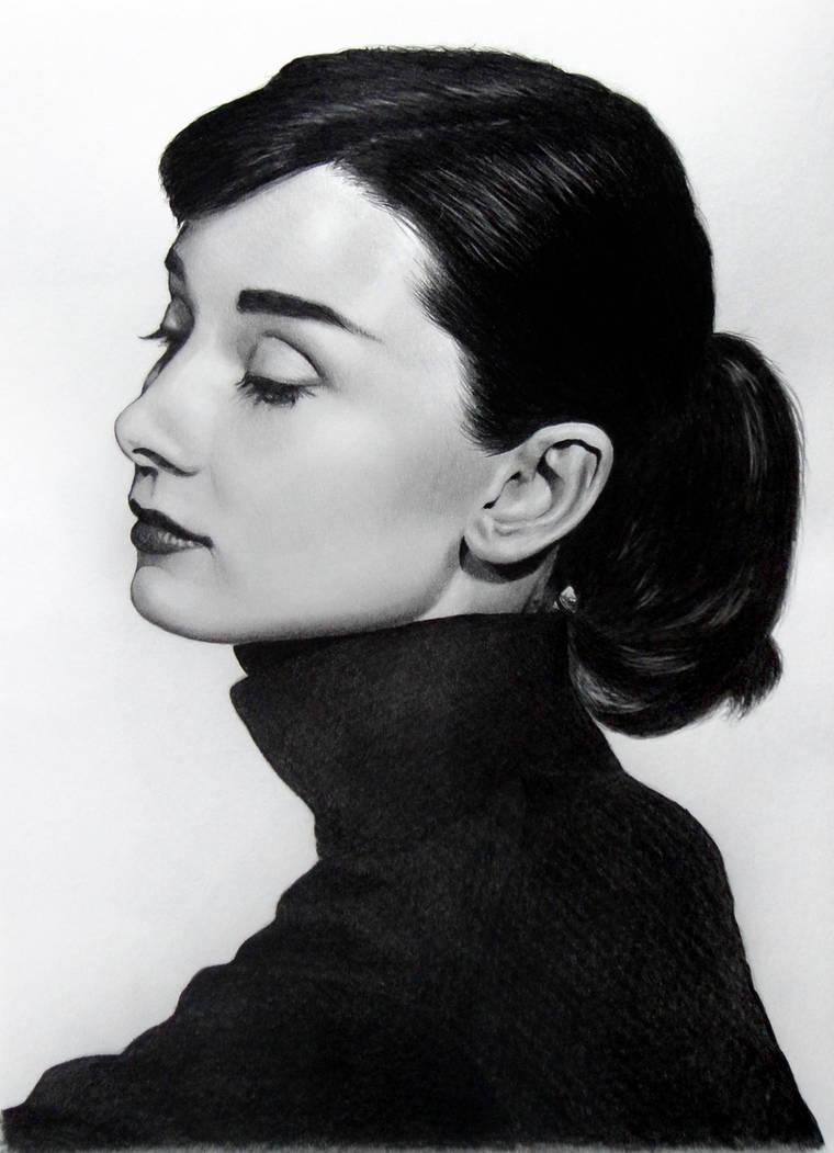 Audrey Hepburn Portrait by anyus
