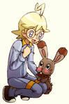 Clemont And Bunnelby again by KawaiiHarukaChan