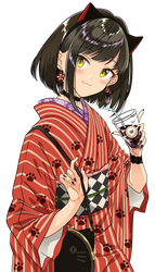 Kimono Cat Girl by Dekodere