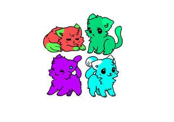Cat Adoptables (4/4) by Bluestarcraft