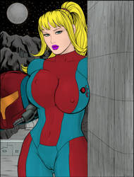 Busty_Samus coloured by johnforge