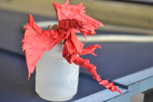 Origami Rathalos (work in progress) by TimsOrigami