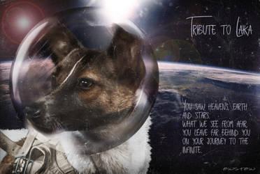 Tribute to Laika by einstein64k