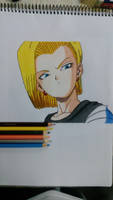 Dragon ball Z : Android n18 by metaln23