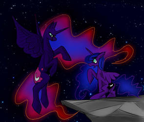 Madness of Princess Luna by OtakuSquirrel