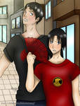 Jason Todd and Tim Drake by ChibiMisa94