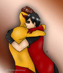 Robin and Kid Flash by ChibiMisa94
